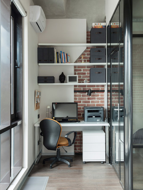 Industrial Study Room: 50 Best Industrial Home Office Ideas