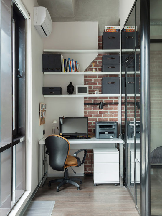 small industrial home office design ideas, remodels & photos