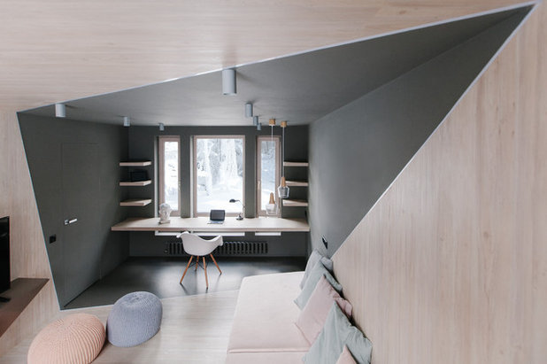 Contemporary Home Office by SHKAF interior architects