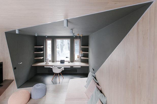 コンテンポラリー ホームオフィス・書斎 by SHKAF interior architects