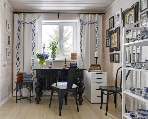 Shabby Chic Style Home Office Design Ideas Remodels Photos