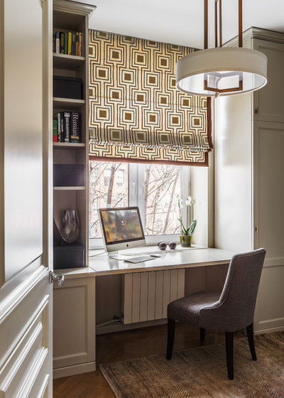 Transitional Home Office by ART4INTERIOR