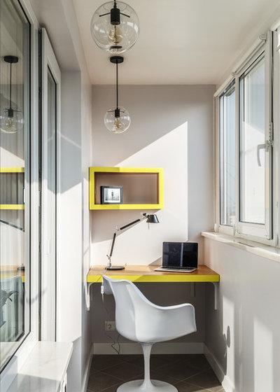 Contemporary Home Office & Library by Алексей Иванов и Павел Герасимов|Geometrium design