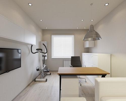 bureau scandinave avec un sol en vinyl photos et id es d co de bureaux. Black Bedroom Furniture Sets. Home Design Ideas