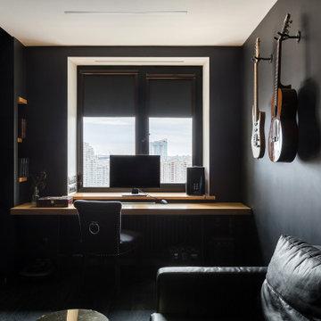Однокомнатная квартира в черном цвете