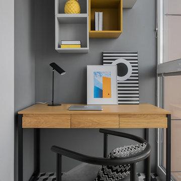Пастель и геометрия - Квартира для семьи с двумя детьми