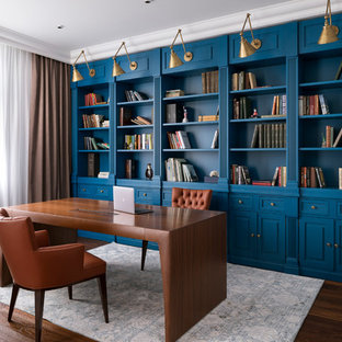 Blue home office Sherwin Williams 75 Most Popular Blue Home Office Design Ideas For 2019 Stylish Blue Home Office Remodeling Pictures Houzz Houzz 75 Most Popular Blue Home Office Design Ideas For 2019 Stylish