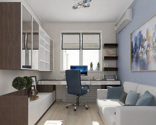 Bureau moderne avec un mur multicolore photos et idées déco de