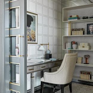 Источник вдохновения для домашнего уюта: рабочее место среднего размера в современном стиле