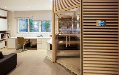 Aus eins mach drei: Büro, Sauna und Gästezimmer in einem
