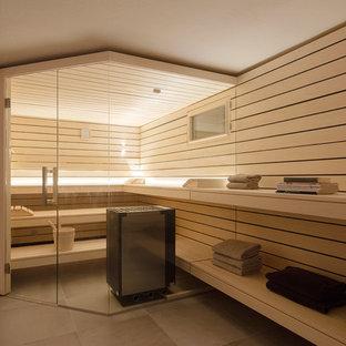 Idées déco pour un sous-sol moderne.