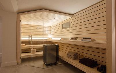 Vorher-Nachher: Vom kargen Luftschutzbunker zur Design-Sauna