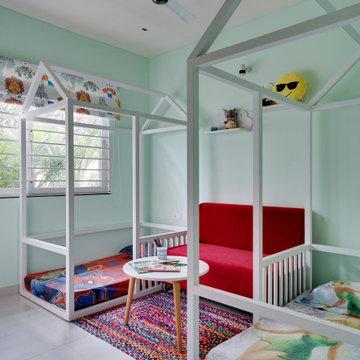 Kids Room - Park Square Apartment designed by Signa Design, Bangalore