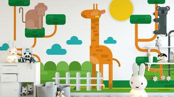Animals Wallpaper Mural