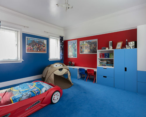Paint ideas for kids bedrooms houzz for Boy car bedroom ideas