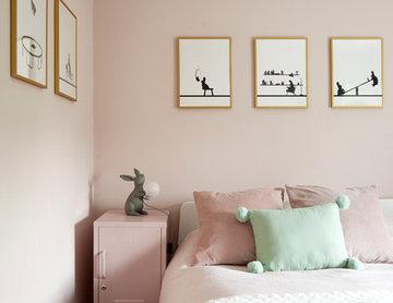 Born & Bred Studio - Blush Girls Bedroom, Kensal Rise