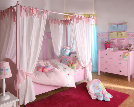 Pink Girls Bedrooms pink girls bedroom | houzz