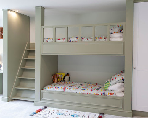 builtin bunk bed stairs photos - Bunk Bed With Stairs