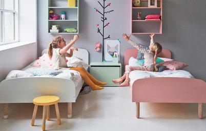 7 enkla tips: Få plats med allt som behövs i barnens delade rum