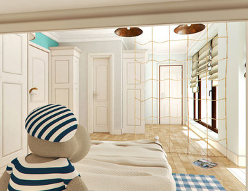 Contemporary mixed mediterranean childs room
