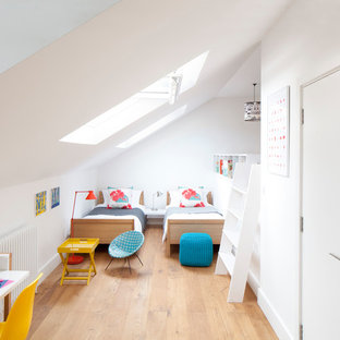 Design ideas for a contemporary kids' room in London.