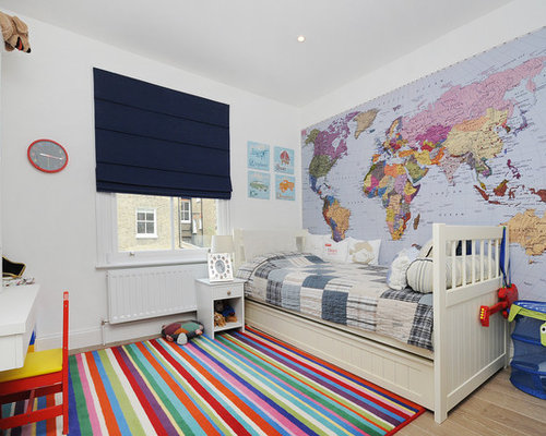 Traditional Boy Kidsu0027 Room Idea In London With White Walls