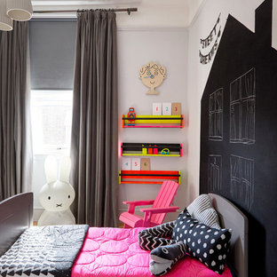 Fun Neon Toddler Bedroom. By Born & Bred Studio