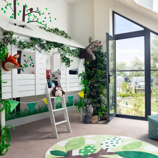 Inspiration for a contemporary kids' bedroom in Surrey.