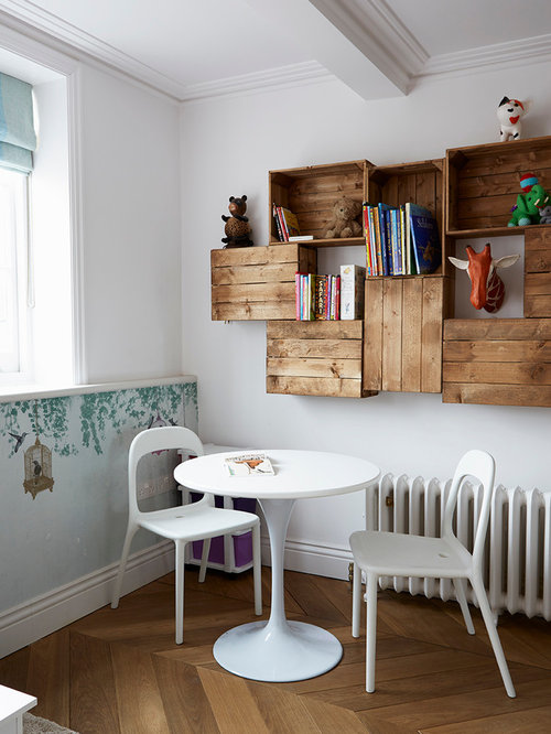 Inspiration For A Scandinavian Gender Neutral Toddleru0027s Room In London With  White Walls And Light Hardwood