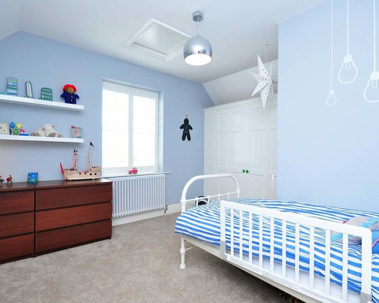 Blue Bedroom For Boys boys blue and white bedroom | houzz