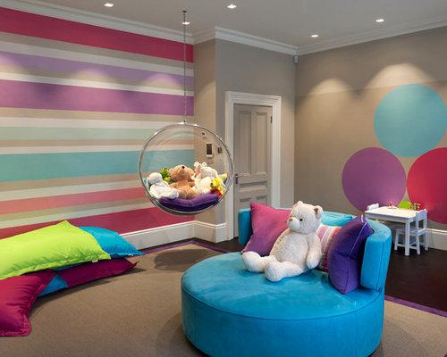 chambre d 39 enfant de luxe avec un mur multicolore p os et ides - Chambre Multicolore Fille