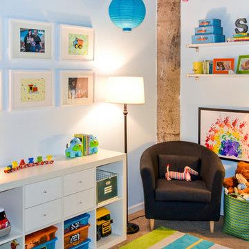 Loft Apartment Toddler Boys Room