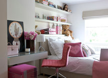 Where did you find the pink stool and desk?