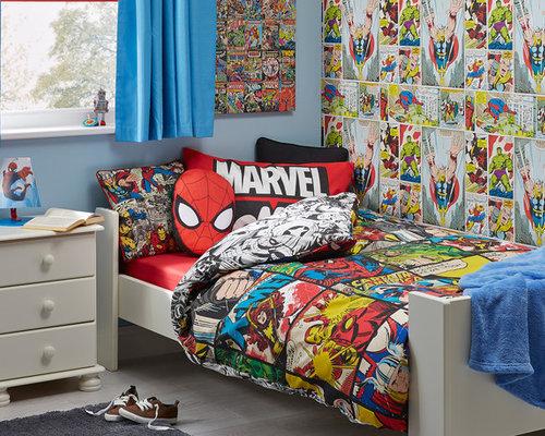 Superhero Wallpaper | Houzz