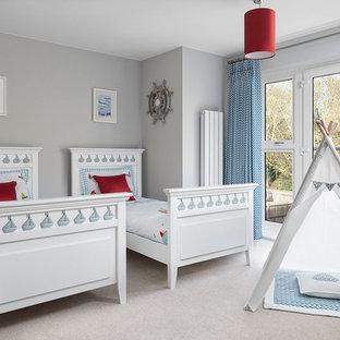 Chambre d\'enfant avec un mur gris Berkshire : Photos et ...