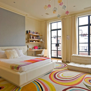Example of a trendy girl teen room design in New York