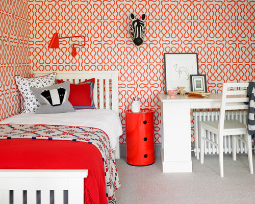 Orange Bedroom Decor Houzz