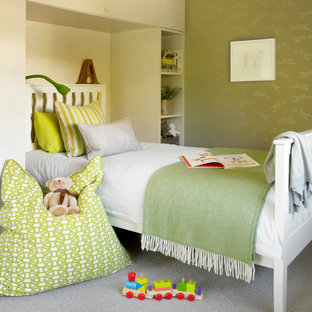 Inspiration for a contemporary kids' bedroom remodel in London