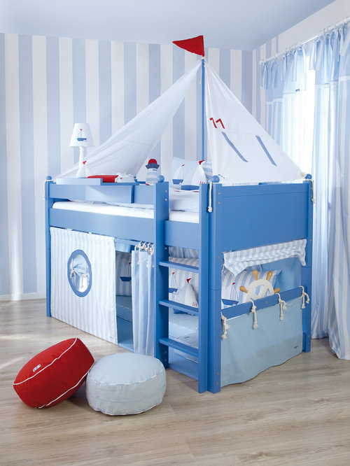 Inspiration for a beach style kids' room remodel in London