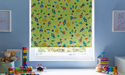 To the Moon Bright Green Roller blind