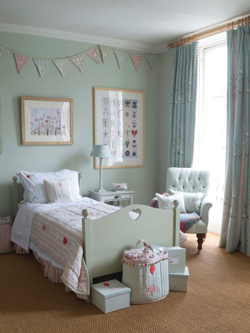 Duck egg blue girls bedroom