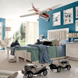 Esempio di una cameretta per bambini moderna