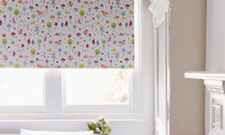 Woodland Pink Roller blind with a blackout fabric