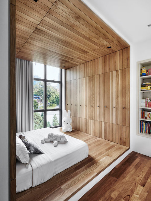 amazing contemporary bedroom furniture ideas 318. Example Of A Minimalist Gender-neutral Medium Tone Wood Floor And Brown Kids\u0027 Amazing Contemporary Bedroom Furniture Ideas 318 R