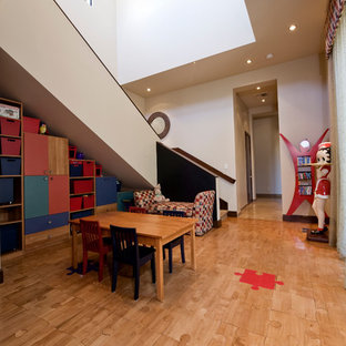 Inspiration for a contemporary playroom remodel in Las Vegas