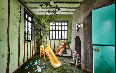 Room Tour: Attic is Transformed into A Woodsy Wonderland