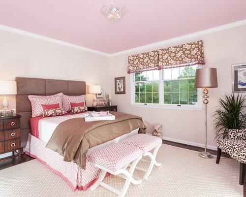pink brown girls room