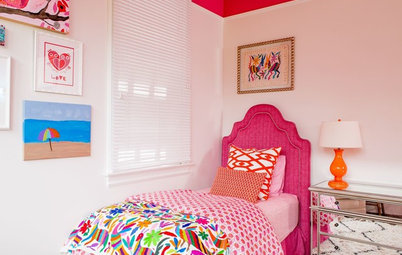 Simple Decorating Guides Room of the Day Girls u Bedroom Plays With Color and Pattern
