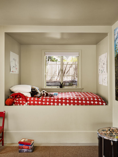 Attractive Inspiration For A Contemporary Gender Neutral Carpeted Kidsu0027 Bedroom  Remodel In Austin With Beige