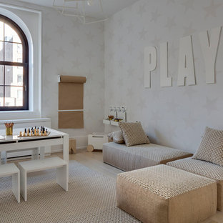 Example of a minimalist kids' room design in New York